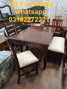 New Design 6 Seater Dining Table Set