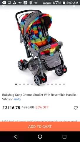 Babyhug cosy Cosmo stroller/Pram for sell