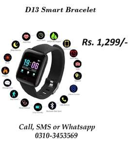 D13 Smart Watch Bracelet Bluetooth Android IOS Fitness Sports Heart
