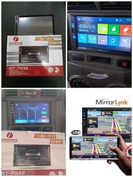 Tv Mobil Intersys 7 Inci Mirror Link Non Cd (Mp5.Usb.Mmc.Aux.Bluettoth