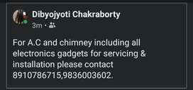 Ac and chimney,all electronic gadgets