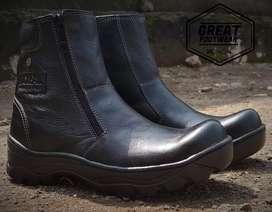 Sepatu safety kulit asli 100% original