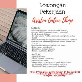 Lowongan Pekerjaan Asisten Online Shop
