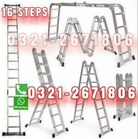 16 STEPS  ALMUNIUM MATERIAL LADDER