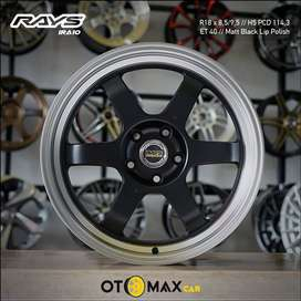 Velg Mobil Rays (1RA10) Ring 18 Matt Black Lip