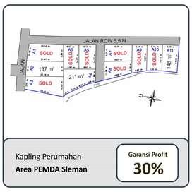 Beli Tanah Area Komplek Pemda Naik 30%, 100 Mtr dari Jl Raya