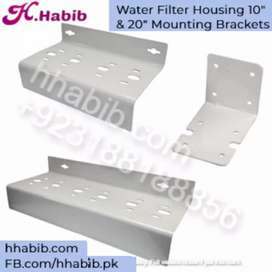 "Water Filter Housing 10"" and 20"" Mounting Brackets"