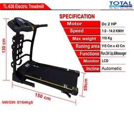 Termurah Treadmill Elektrik 636 New Motor 2 HP Bergaransi