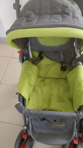 Stroller and Carry coat cum car seater