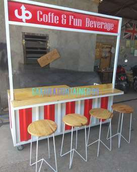 Container booth cafe, booth kedai, booth minuman, booth bazzar, booth.