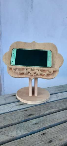 Custom handmade mobile stand, recipe stand, tablet stand wooden