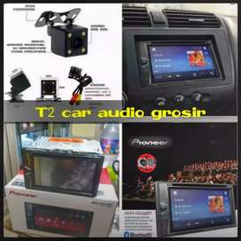 Tercanggih DVD 2DIN PIONEER bisa bluetooth+camera hd harga grosir gan