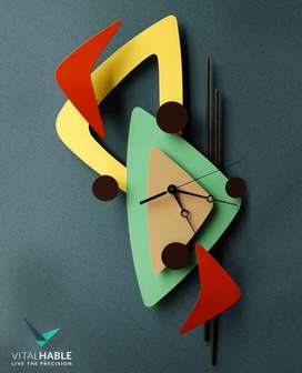 Colorful Seamless Abstract Wall Clock