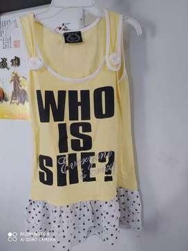Dress atasan anak import PL