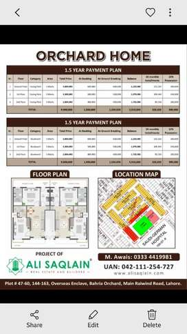 Bahria orchard 2 bad Appartment easy installment