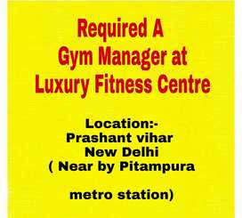 Required a Business Manager at Luxury Gym centre