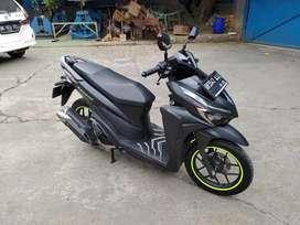 Honda Vario 125cc 2020 Matte Black CBS ISS Full Accessories Asli Honda