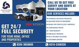 CCTV security camera with Installation  - HIKVISION