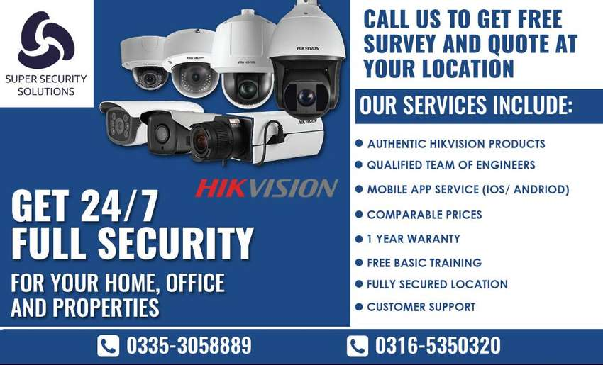 CCTV security camera with Installation  - HIKVISION 0