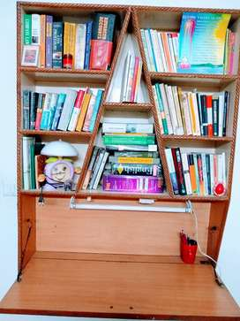 Two Handcrafted Wooden Study Tables Bookcases/book racks/book shelves