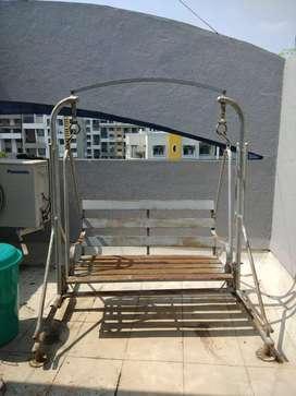 2 seater Garden swing in wrought iron