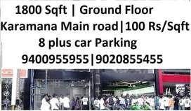 1800 Sqft   Karamana jn   100 Rs / sqftt   Ground Floor