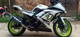 Full mantion  modified garapic full custom bike ninja  300cc