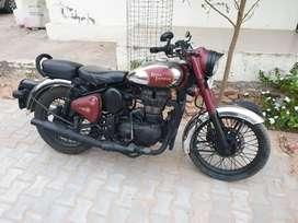 Classic 500 maroon chrome