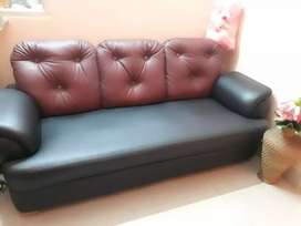 Black and brown colour sofa set