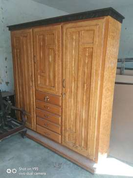 3 door all wooden wardrobe