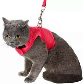 ESCAPE PROOF SOFT MESH CAT HARNESS. Imported Made in Germany.