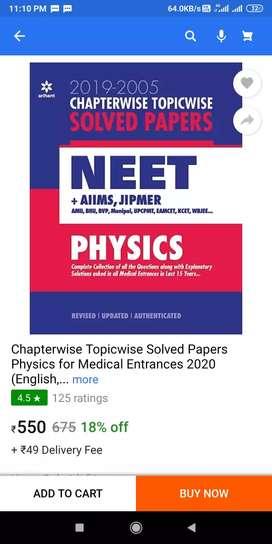 Aarihant Chapterwise Topicwise 2020 for NEET