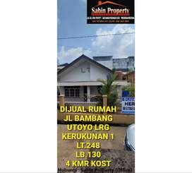 Dijual cepat rumah + kost 4 kmr di Bambang utoyo sbrang pakri polda