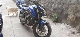 Bajaj pulsar sports bike 200cc NS sapphire blue