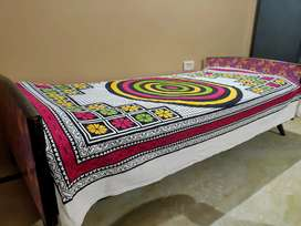 Colorful Teakwood Bed for Sale Now