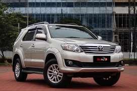 Fortuner Diesel G MT 2012 Silver pajak panjang