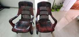 Gently used Cello Comfort Relax Plastic Chair Rosewood Color 2 Pc