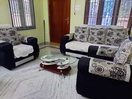 Sofa with pillow and tepai