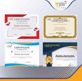 Print sertifikat cetak sertifikat