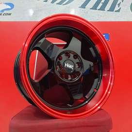 Velg Mobil Xenia dll Ring 16 HSR Wheel LOUD Black Red