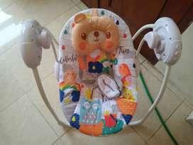 Bouncer baby sugar ayunan elektrik menggunakan batrei dan charger