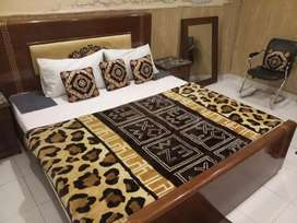 HOTEL FOR RENT furnished 18 bed rooms kitchen  store office Rent 5 lac