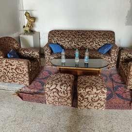 Sofa set with center table and mudda