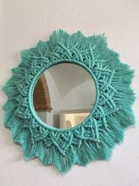 Mirror decorated by rope