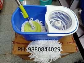 Gala spin mop with wheels and extra refill