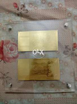 Australian Antique Uncirculated Notes in Gold.