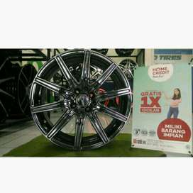 modifikasi velg racing yaris jazz brio ring 17 rata black chrome