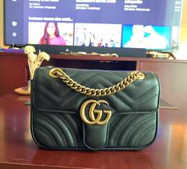 Gucci marmont small black GHW