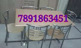 New ss restaurant furniture table with six chair cafeteria furniture
