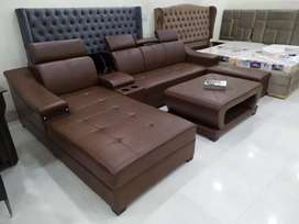 Brown sofa set with high quality materials warranty 10 years